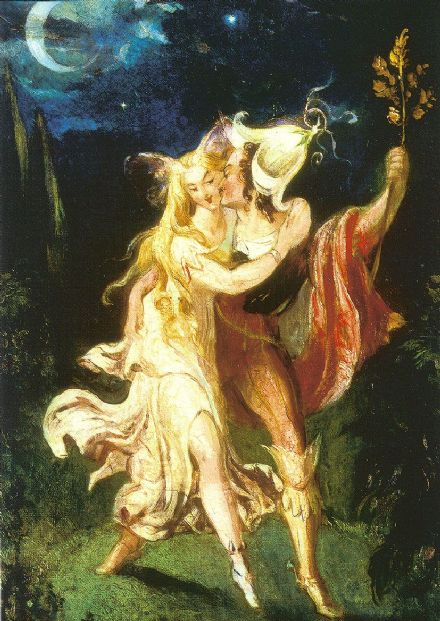 Von Holst, Theodor: The Fairy Lovers. Fine Art Print/Poster. Sizes: A4/A3/A2/A1 (001268)